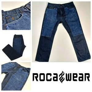 Rocawear Classic Fit Two-tone Blue Jeans 40 Waist